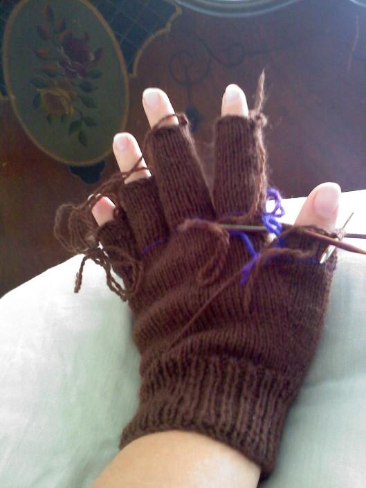 Gloves for Dad back