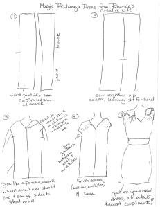Magic Rectangle Dress Tutorial